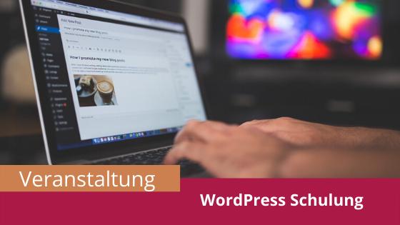 Veranstaltung WordPress Schulung